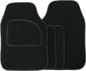 4 Piece Car VAN SUV Mat Set Universal Fit Floor Anti Slip Cargo Velour Black