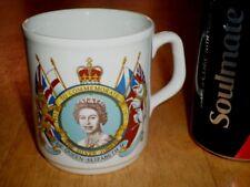 "QUEEN ELIZABETH II - ""THE SILVER JUBILEE 1952-1977"", Ceramic Coffee Cup, Vintage"
