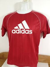 VINTAGE 90 S ADIDAS RIO FOOTBALL SHIRT TRAINING TOP GIOVANI BNWT T-SHIRT ROSSA Glanz