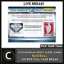 2020 BOWMAN DRAFT Super Jumbo béisbol 6 Caja romper #A1078 - Elige Tu Equipo