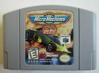✅ *GOOD* Micro Machines Turbo Nintendo 64 N64 Video Game Cart Super Fun Retro ✅