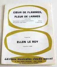 Partition sheet music ELLEN LE ROY : Coeur de Flammes, Fleur de Larmes * 70's
