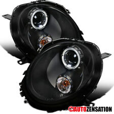 For 2007-2012 Mini Cooper Black Halo Rim Projector Headlights Head Lamps Pair