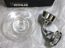 11280-CP Kohler Forte Glass Soap Dish w/ Holder - Traditional Polished Chrome