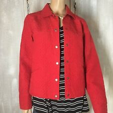 COLDWATER CREEK Womens jacket Size medium color red buttons in the front