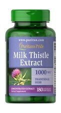 Puritans Pride Milk Thistle 4:1 Extract 1000 Mg (silymarin) Softgels 180 Count