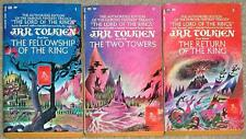 LORD OF THE RINGS TRILOGY ~ TOLKIEN  ~ TRYPTICH COVERS ~ PB LOT 608 Super Clean