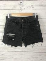 Women's LEVI Reworked Denim Hotpants - W29 - Black - Great Condition