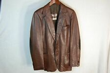 BALLY of Switzerland soft Leatherjacket Blazer EU48 brown ellbow-patches