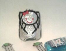 Hand Sanitizer Holder Spider Glitter Silver Embroidered Halloween Kids 1 oz