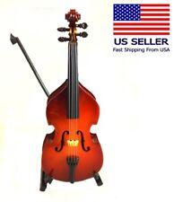 "Miniature Wood Bass, 8""  Perfect Music Gift"