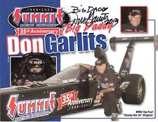 DON GARLITS HAND SIGNED 8x11 COLOR PHOTO+COA        NHRA LEGEND   BIG DADDY