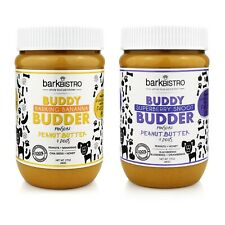Superberry Snoot + Barkin' Banana BUDDY BUDDDER, 100% Natural Peanut Butter for