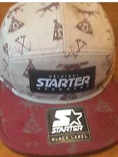 Starter Grey and burgundy  Baseball Cap -  Coyote - BNWT) OSFM