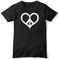 Peace & Love Mens Funny Unisex T-Shirt