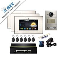 3 Monitor Residential Commercial Security Monitoring Video Intercom System Kit