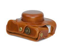 Kameratasche Etui für Fujifilm X30 Kunstleder Fuji Tasche braun CC1145c