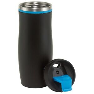 Becher to go Isolierbecher Thermo Mug Coffee to go Tee Autobecher schwarz blau