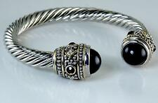 Cuff Bracelet Silver Gold Black Pearl Filigree Rope Designer Balinese Bali