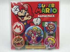Super Mario Bros official Badge pack Cadeau Fan Fun Pack 5 badge neuf