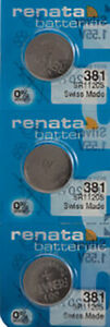 3 x Renata 381 Watch Batteries, SR1120SW Battery   Shipped from Canada