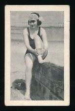 1920's E-UNC? Mack Sennnett's BATHING BEAUTIES -Woman w/ leg up (Halsey Photo)
