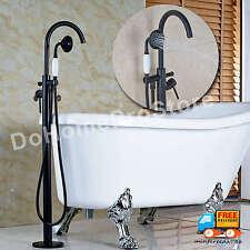 Oil Rubbed Bronze Floor Mount Bath Tub Filler Shower Faucet w/ Hand Sprayer NIB
