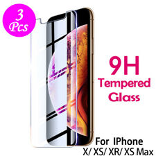 Tempered Glass Screen Protector Saver Skin Cover For iPhone 11 Pro X XR US LOT
