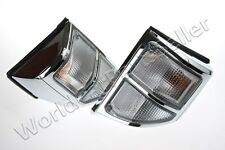 Clear Corner Light Lamps PAIR Fits TOYOTA Land Cruiser FJ75 1999-2003 Facelift