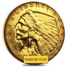 $2.5 Gold Quarter Eagle Indian Head - Ex Jewelry (Random Year)