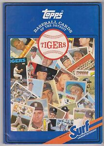1987 Surf & Topps Detroit Tigers Baseball Card Book, Excellent Condition!
