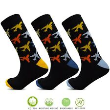 Mens Black Cotton Rich Colour Heel Socks Designer Soft Fit UK 6-11 Socksology®