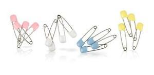 Nuby Diaper Pins - Bundle of 32 Pins - Rust-proof - Plastic Closure