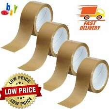 Brown Parcel Packing Packaging Tape Sellotape Carton Sealing 48mm X 66m 6 12
