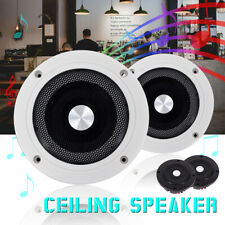5.2'' 60W 2-Way Round In-Ceiling In-Wall Audio Speakers System Flush