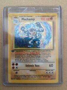 Machamp SEALED 1st first edition pokemon card rare holo 8/102 MINT Base Set 1999