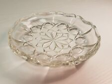 Small Round Decorative Glass Trinket Dish Ideal for Dressing Table or Soap Dish