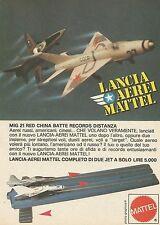 X7539 Lancia aerei Mattel - Pubblicità 1977 - Vintage Advertising