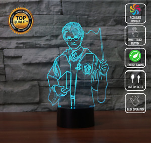 HARRY POTTER HOGWARTS GRYFFINDOR 3D Acrylic LED 7 Colour Night Light Touch Lamp