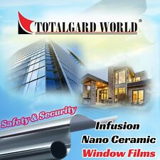 Tinted Film: Safety & Security Window Films (4 & 5mil) (Per Square Feet )
