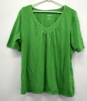 Lane Bryant Women's 22/24 W Relaxed Fit 100% Cotton Short Sleeve Casual Shirt