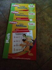 Playskool Pre K Math & Grade 1 Subtraction and Addition 3 books