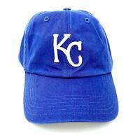 Kansas City Royals MLB Adjustable Baseball Cap Dad Hat Relaxed Fit KC Logo Blue
