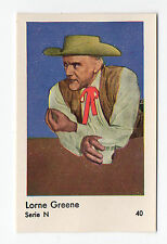1950s Swedish Film Star Card Serie N#40 Bonanza Actor Lorne Green Ben Cartwright