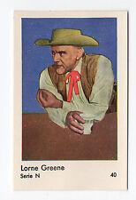 1950s Swedish Film Star Card Serie N#40 Bonanza Actor Lorne Green Ben Cartwright