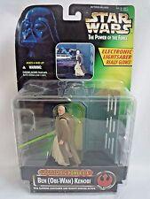 Star wars el poder de la fuerza Ben Obi Wan Kenobi Con Sable De Luz Brillante