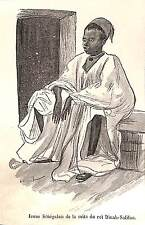 PARIS EXPOSITION UNIVERSELLE WORLD FAIR 1889 SENEGAL ROI DINAH-SALIFOU GRAVURE