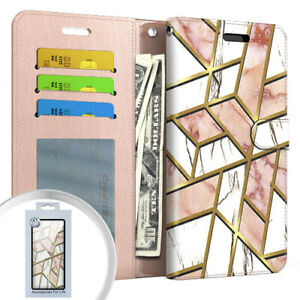 For OnePlus Nord N200 5G DE2117 DE2118 Wallet Case Phone Cover + Tempered Glass