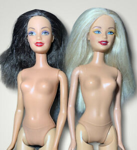 City Style Barbie & Halloween Hip Doll Nude For Ooak Blonde Brunette Ceo face