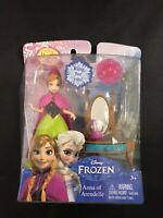 Disney Frozen Anna of Arendelle Small Doll MagiClip w/ Vanity Snow Globe & Ring